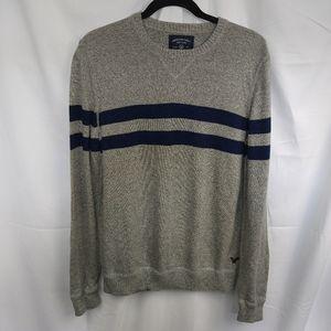 AEO Men's Crew Neck Stripe Sweater Sz Medium